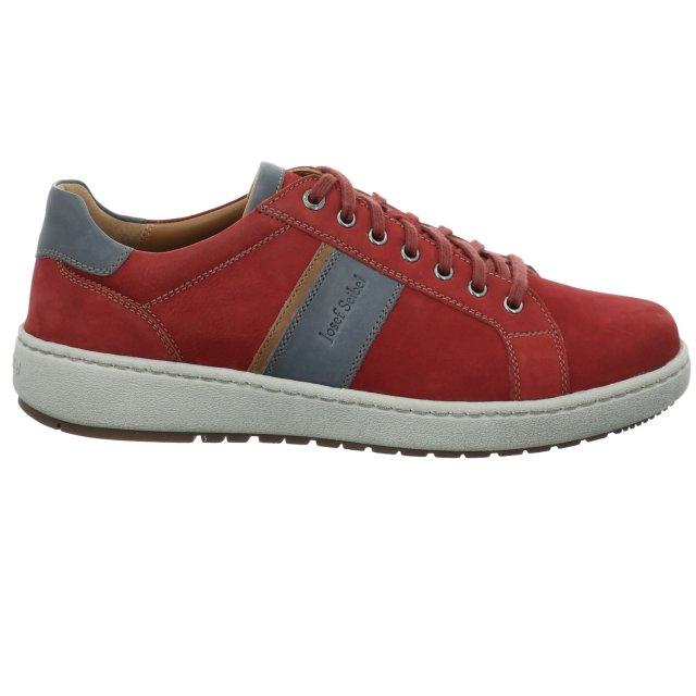 Pánské široké kotníkové boty Josef Seibel 26401-21401 červené